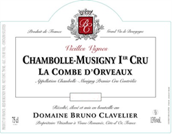 2014 Chambolle-Musigny 1er Cru, La Combe d'Orveau,  Domaine Bruno Clavelier