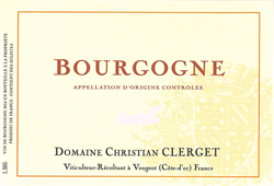 2017 Bourgogne Rouge, Domaine Christian Clerget